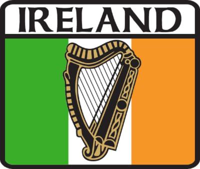 Sticker AS105 Tricolour Harp