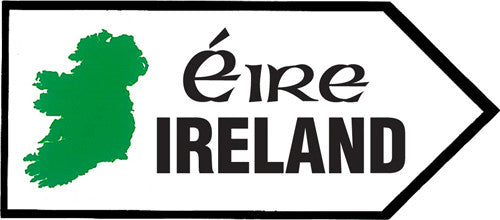 Sticker AS70 Map Irish Road Sign