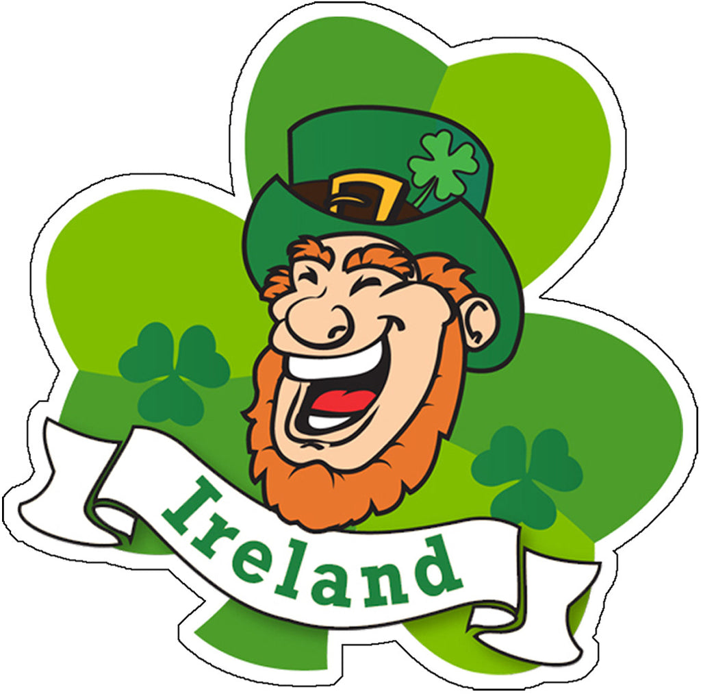 Sticker AS78 Leprechaun Head
