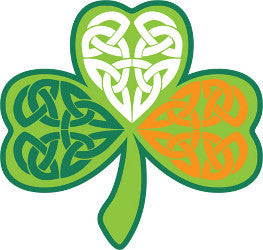 Sticker AS82 Shamrock Celtic Tricolour