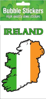 Bubble Sticker BS03 Ireland Tricolour Map