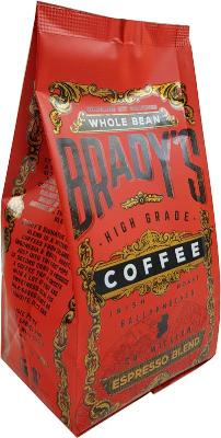 Brady's Coffee Espresso Blend 227g Whole Bean Coffee