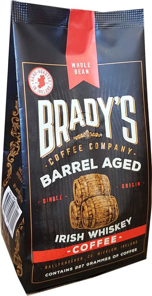 Brady's Coffee Barrel Aged Irish Whiskey Coffee 227g Whole Bean