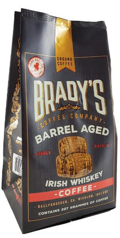 Brady's Coffee Barrel Aged Irish Whiskey Coffee 227g Ground coffee
