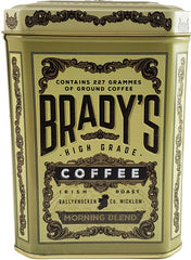 Brady's Coffee Morning Blend Tin 227g Ground coffee