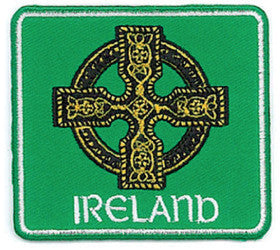 Embroidered Patch  EB02 Celtic cross green