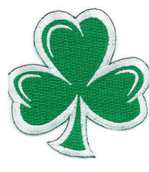 Embroidered Patch EB03 Cut out Shamrock