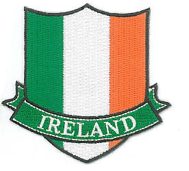 Embroidered Patch EB58 Tricolour Crest Banner