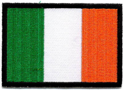 Embroidered Patch EB67 Tricolour Irish Flag