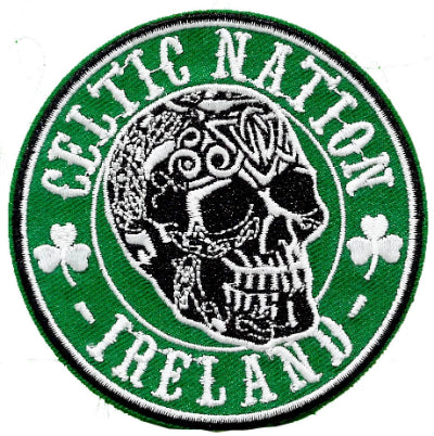 Embroidered Patch EB74 Celtic Nation Skull
