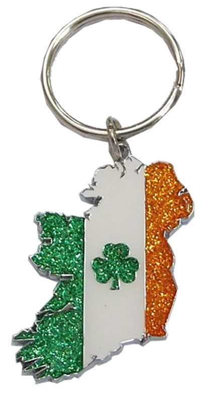 KR03 Map Ireland Tricolour Glitter