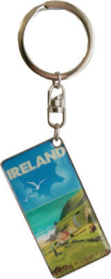 KRM01 Ireland Coutry Scenery Keyring