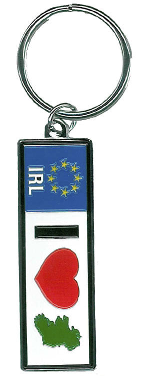 KRRP1 I Love Ireland Car Plate Keyring