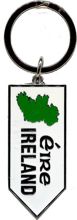 KRRS1 Map Ireland Road Sign Keyring