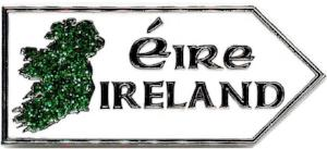 Metal Magnet MM027 Ireland Map Roadsign
