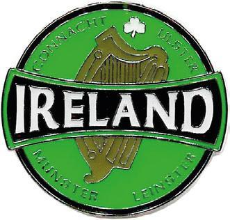 Metal Magnet MM034 Ireland Round Harp