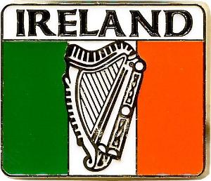 Metal Magnet MM040 Ireland Tricolour Harp