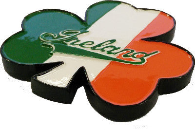 Resin Magnet RM15 Shamrock Ireland Tricolour