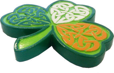 Resin Fridge Magnet RM23 Shamrock Celtic Tricolour
