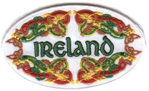 Embroidered Patch EB09 Ireland celtic Oval Patch