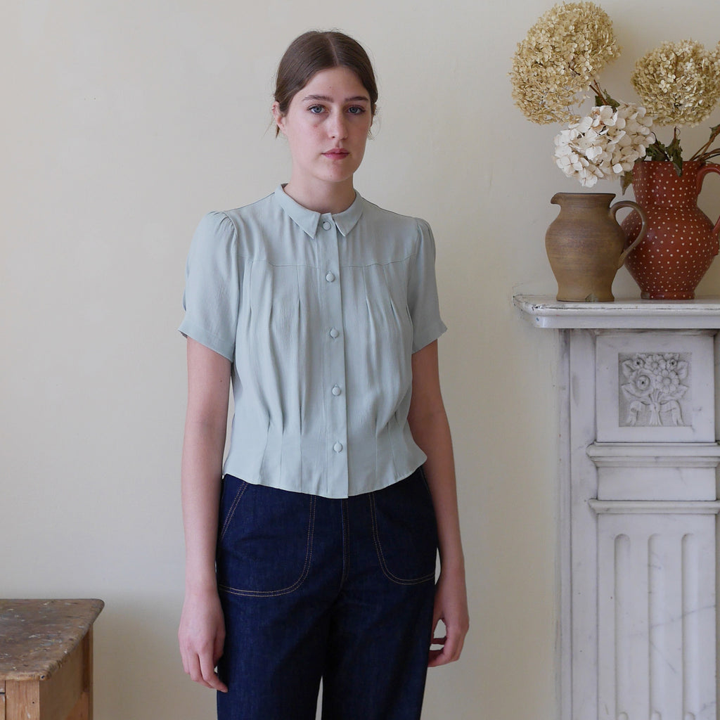 1930's Blouse - Celadon Green | Gifts for Her
