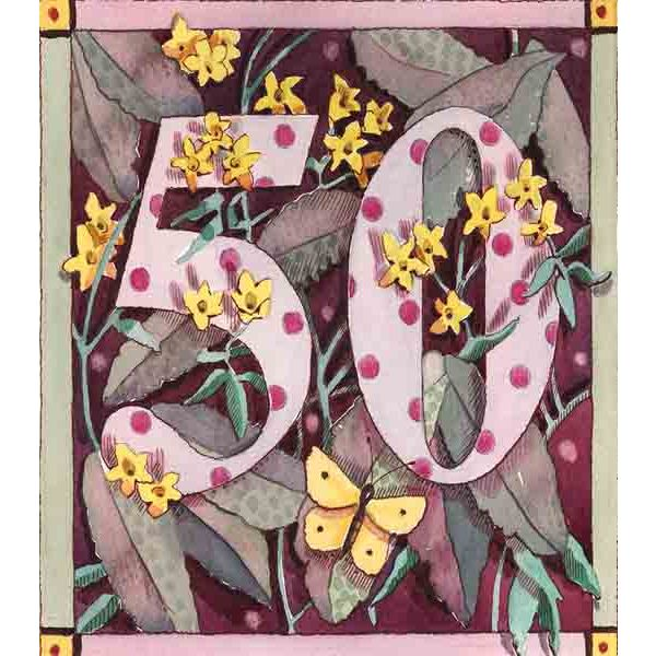 Botanical Number Card - Closet & Botts