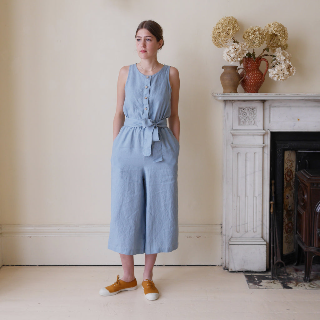 Culotte Jumpsuit - Dusty Blue | Gifts for Her