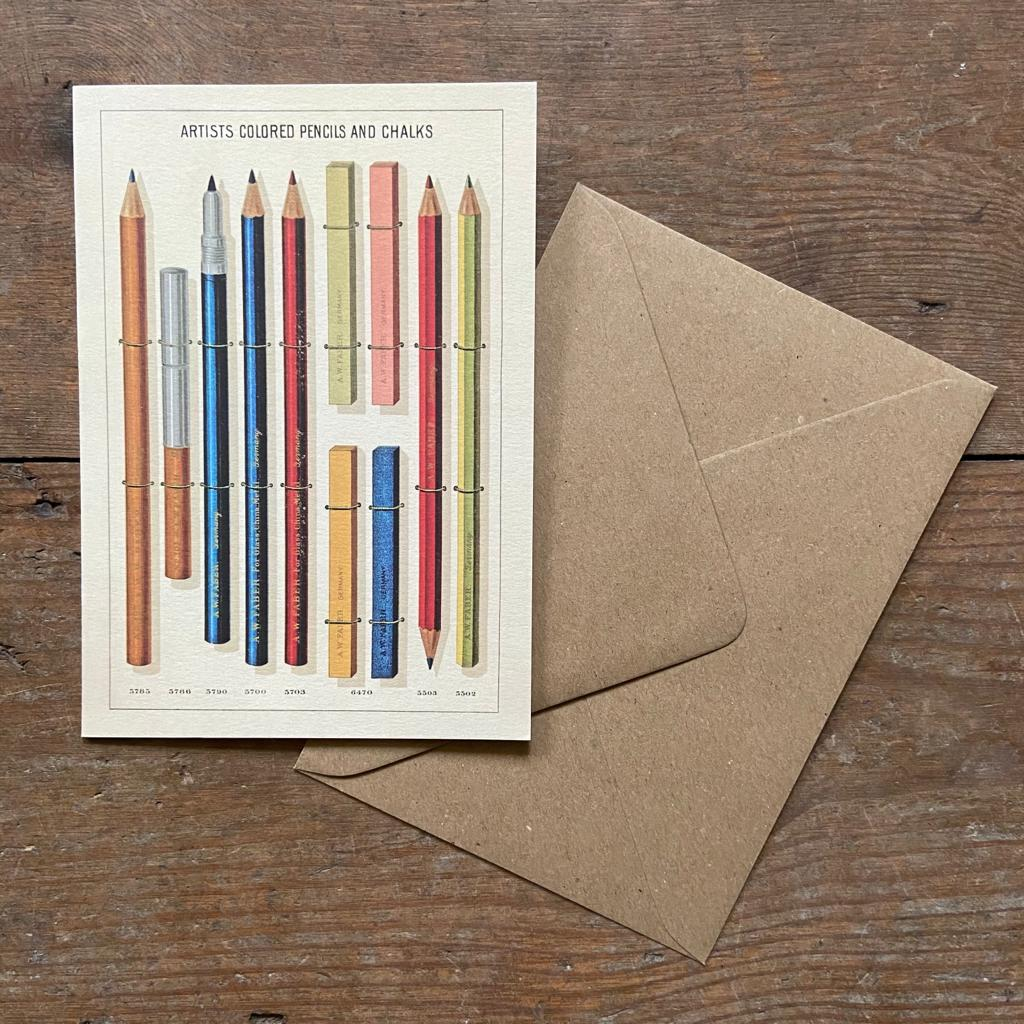 Pencils Greeting Card - Homeware Store