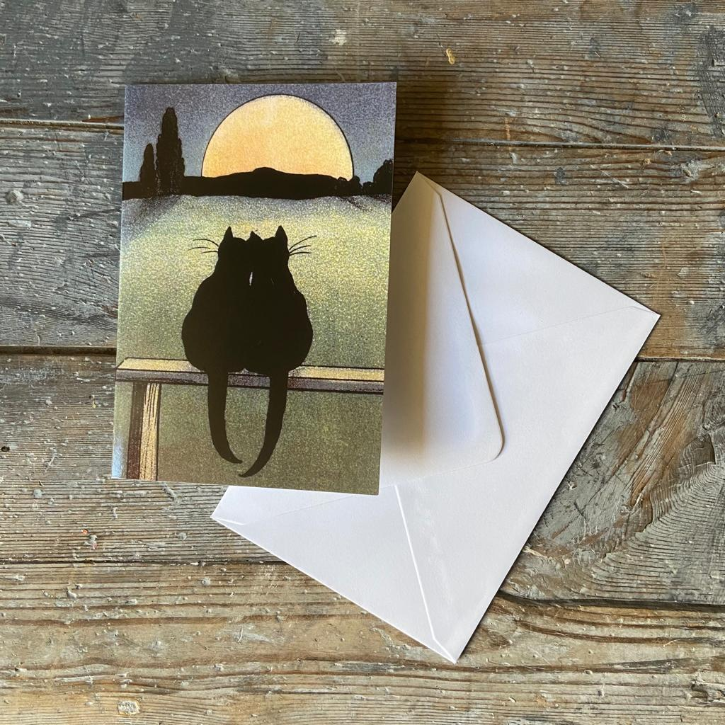 In the Pale Moonlight' Greeting Card