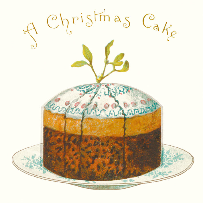 Traditional Christmas Card Pack - A Christmas Cake - Homeware Store