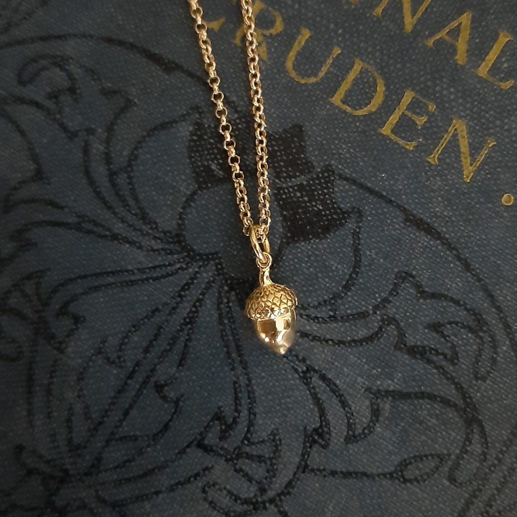 Acorn Gold Plated Pendant | Gifts for Her | Closet & Botts