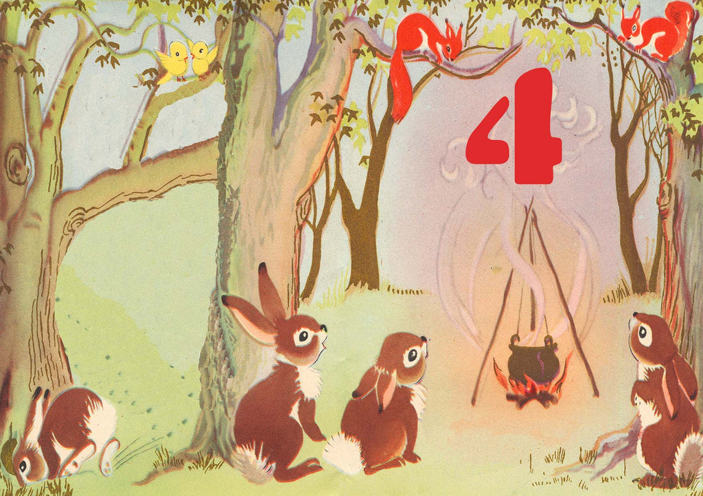 4 Bunnies - Birthday card - closetandbotts