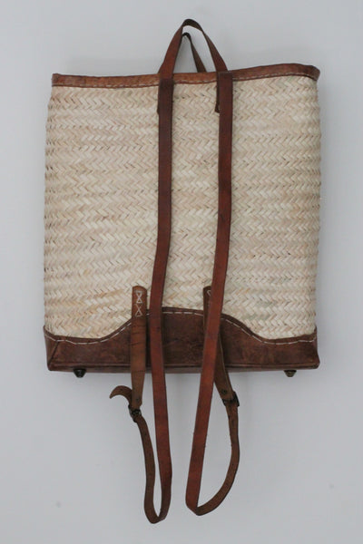 Backpack Basket with Leather Straps