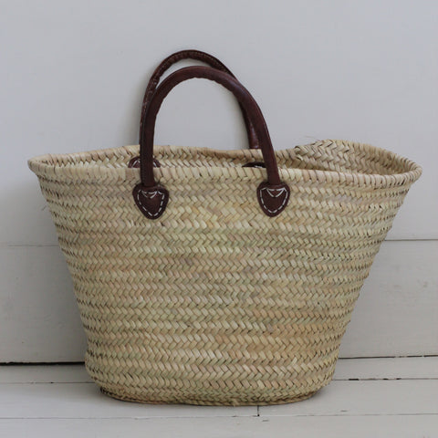 Single handle Palm leaf shopper
