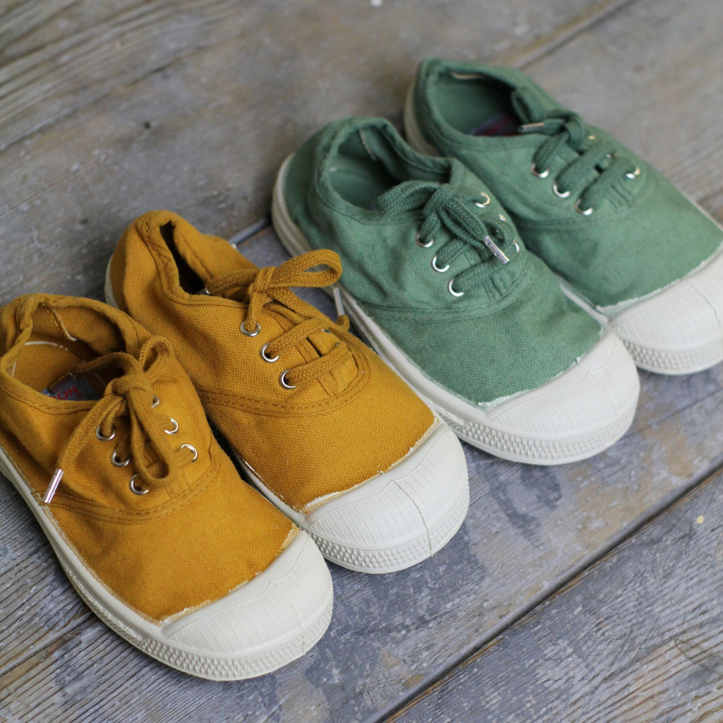 Bensimon Kid's Tennis Shoes, Almond - Closet & Botts