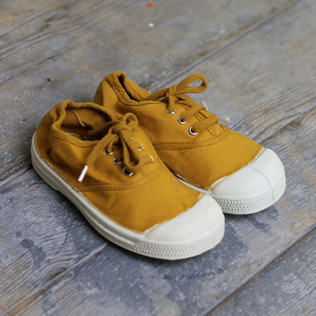 Bensimon Kid's Tennis Shoes, Ochre - closetandbotts