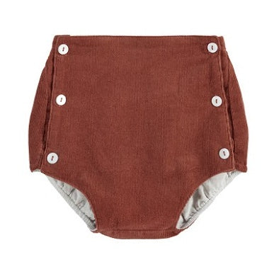 Button Front Bloomers, Clay Cord - closetandbotts