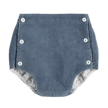 Button Front Bloomers, Blue Cord - closetandbotts