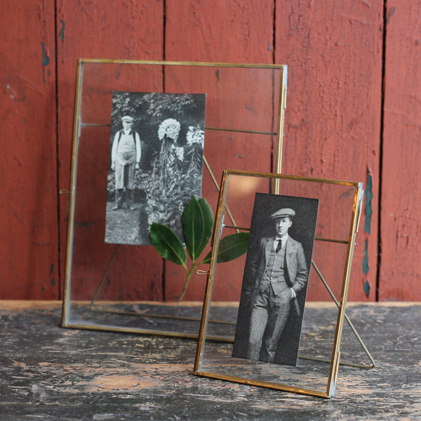 Brass picture frame with stand