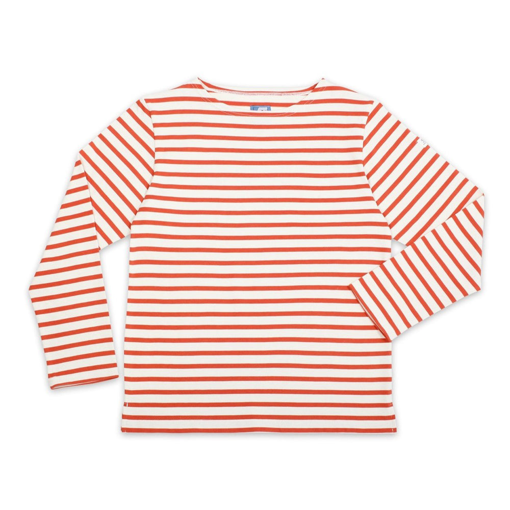 Breton Striped Top - Burnt Orange - closetandbotts