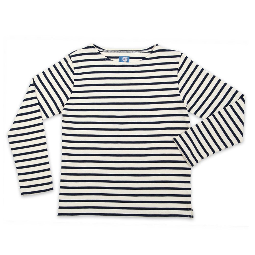 Breton Striped Top - Navy Blue - closetandbotts