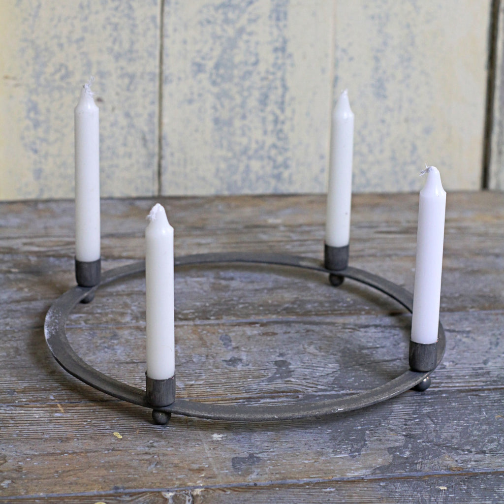 Zinc Ring Taper Candle Holder - Closet & Botts