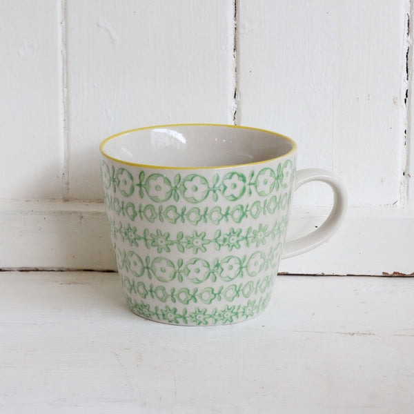 Bloomingville hand printed coffee mug
