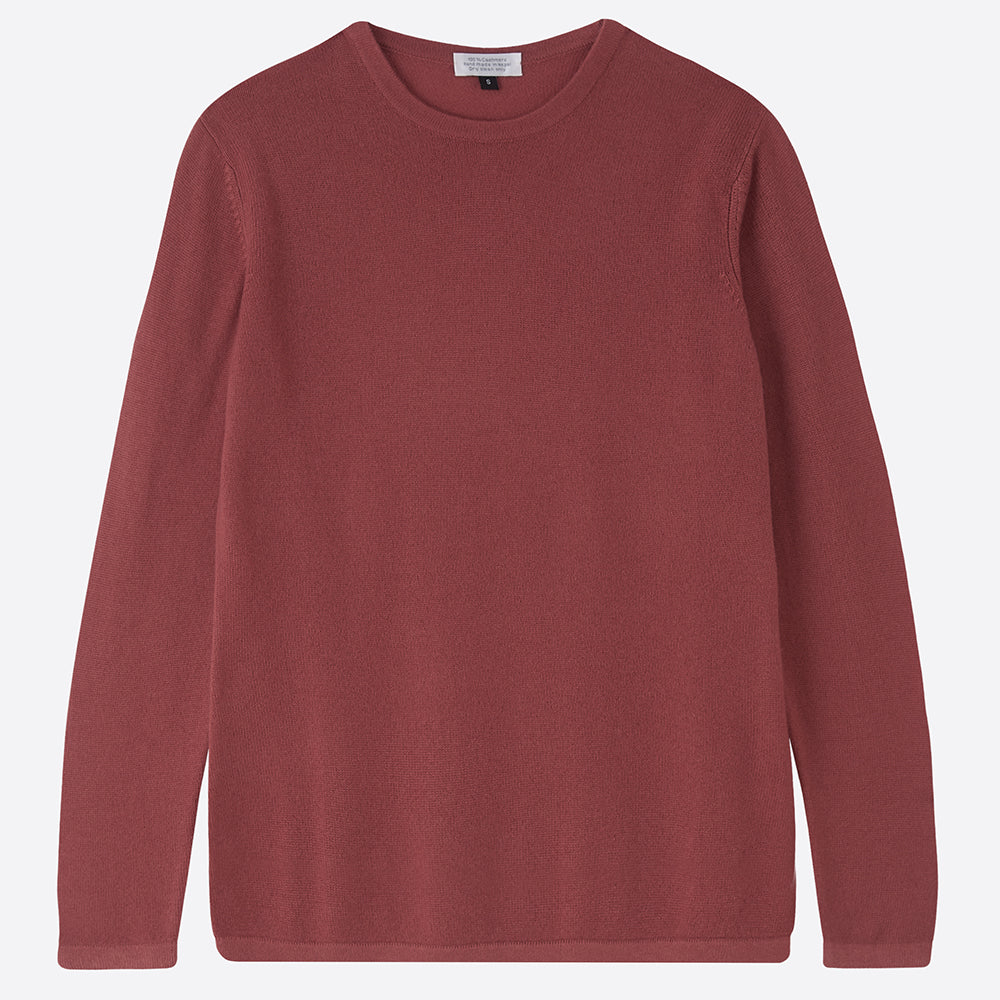 Pure Cashmere Crew neck jumper, Rosewood - [product_Option1 Value] - Homeware Store