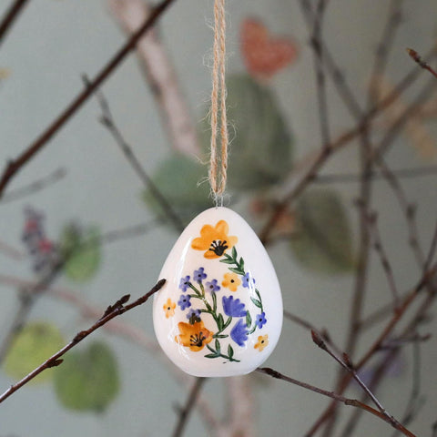 Hanging ceramic Easter egg