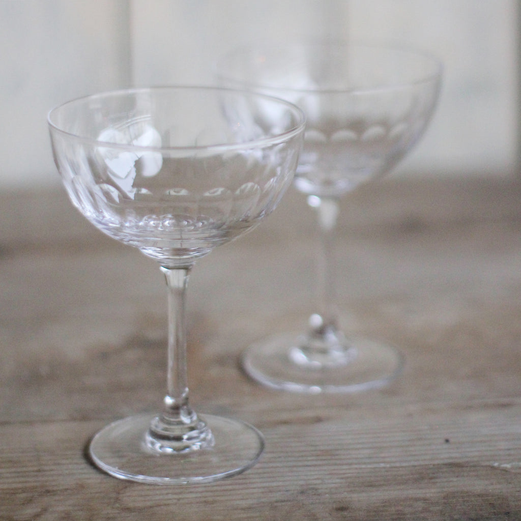 Crystal Champagne Coupe - Lens - closetandbotts