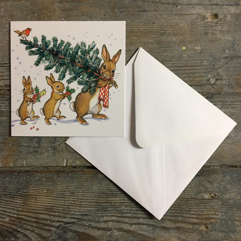 Traditional Christmas Card Pack- Bringing Home the Tree - Homeware Store