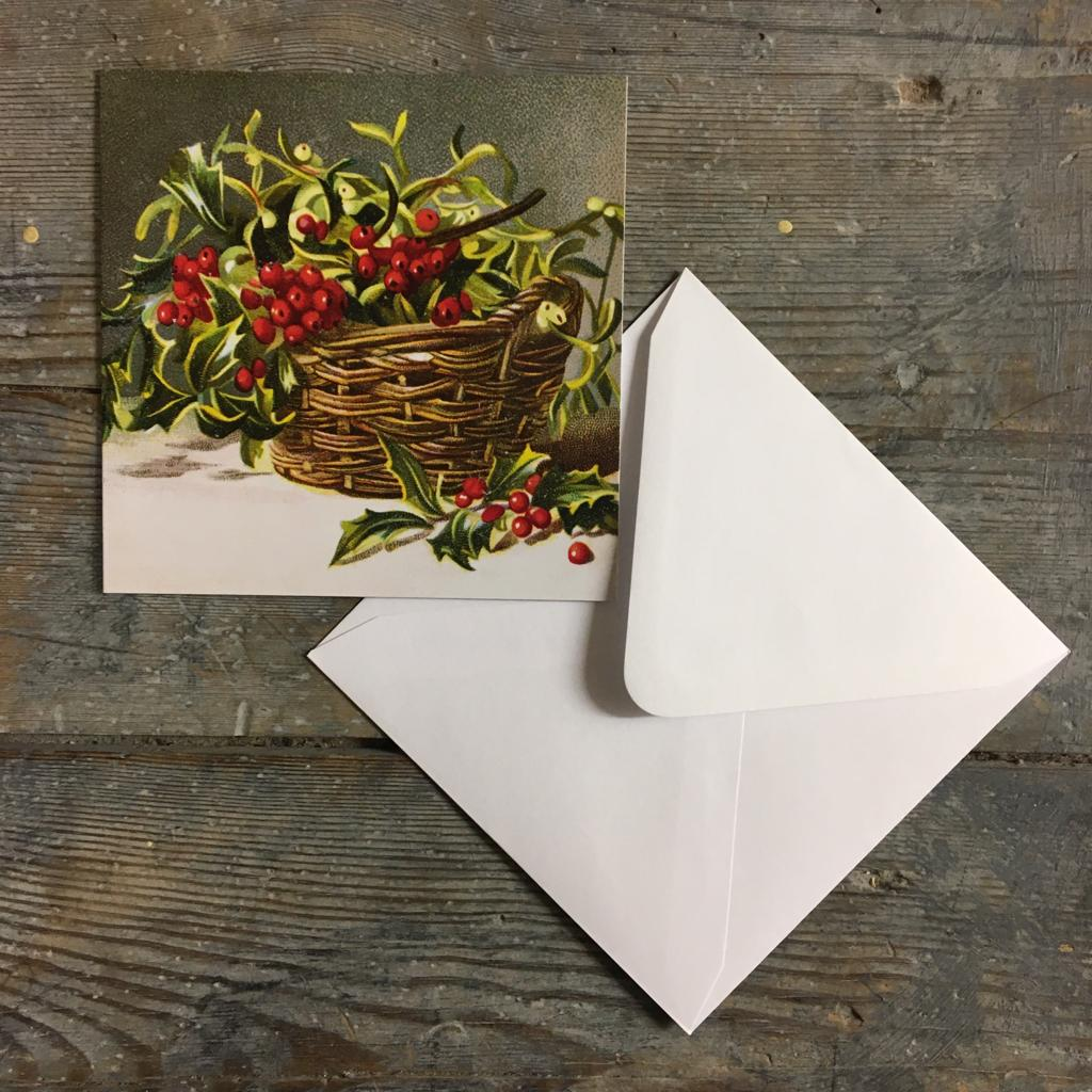 Traditional Christmas Card Pack - Holly & Mistletoe - Closet & Botts