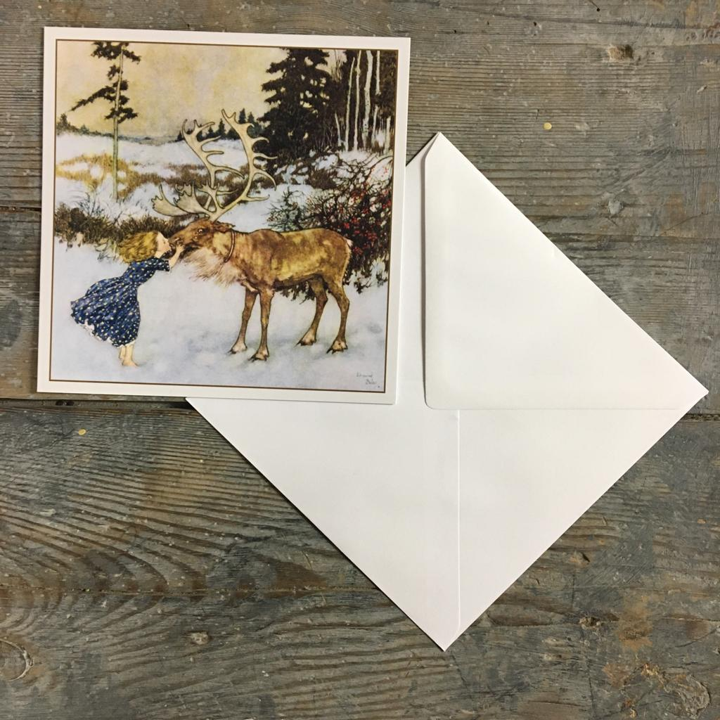 Traditional Christmas Card Pack - Gerda and the Reindeer - Closet & Botts