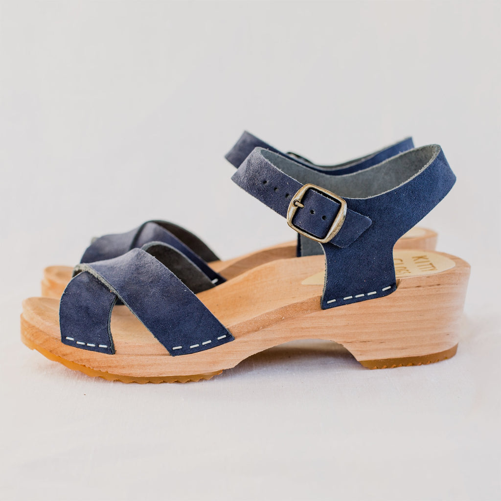 Low Dansare Clog, Midnight Suede - Homeware Store